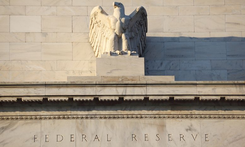 close up on eagle on Federal Reserve System headquarters Washington DC