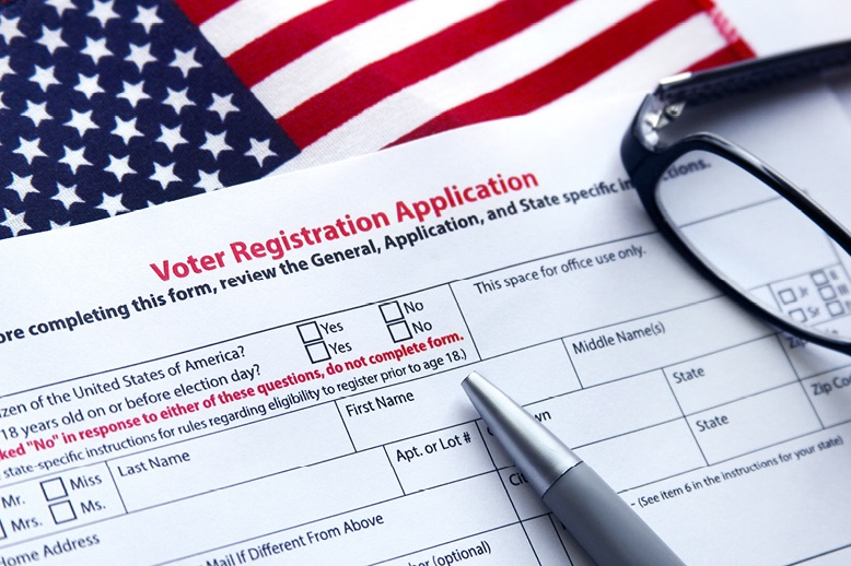 Voters registration application