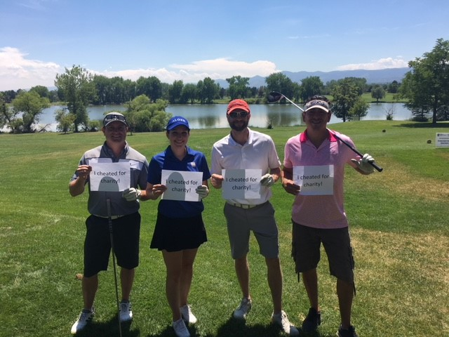 Christian Ofner participating in the RBCWM Colorado Scholarship Fund Annual Golf Tournament.